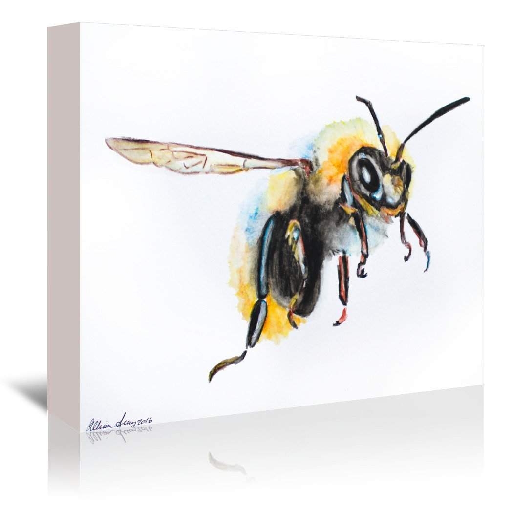 Bumblebee by Allison Gray Wrapped Canvas - Wrapped Canvas - Americanflat