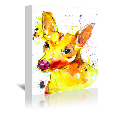 Chihuahua Mix by Allison Gray Wrapped Canvas - Wrapped Canvas - Americanflat