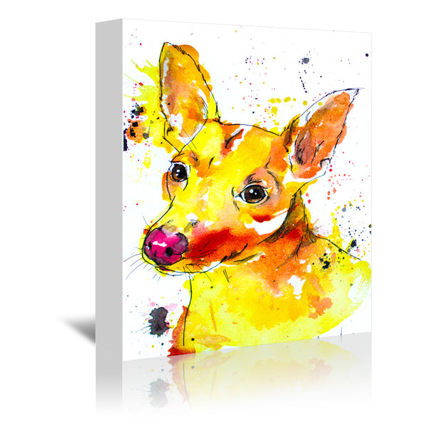 Chihuahua Mix by Allison Gray Wrapped Canvas