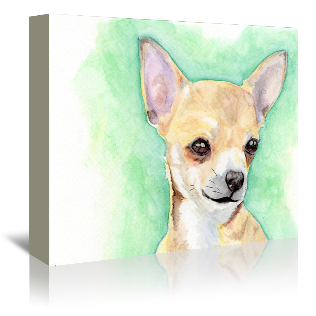 Chihuahua by Allison Gray Wrapped Canvas - Wrapped Canvas - Americanflat