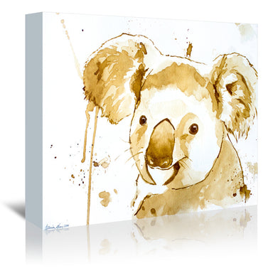 Coffee Koala Bear by Allison Gray Wrapped Canvas - Wrapped Canvas - Americanflat