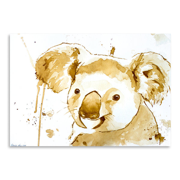 Coffee Koala Bear by Allison Gray Art Print