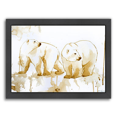 Coffee Polar Bears by Allison Gray Framed Print - Americanflat