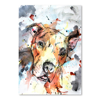 Colorful Dog by Allison Gray Art Print - Art Print - Americanflat