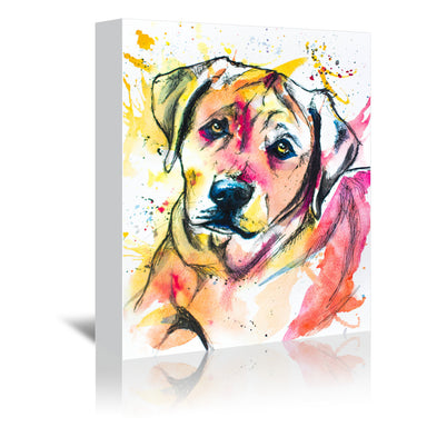 Colorful Lab Mix by Allison Gray Wrapped Canvas - Wrapped Canvas - Americanflat