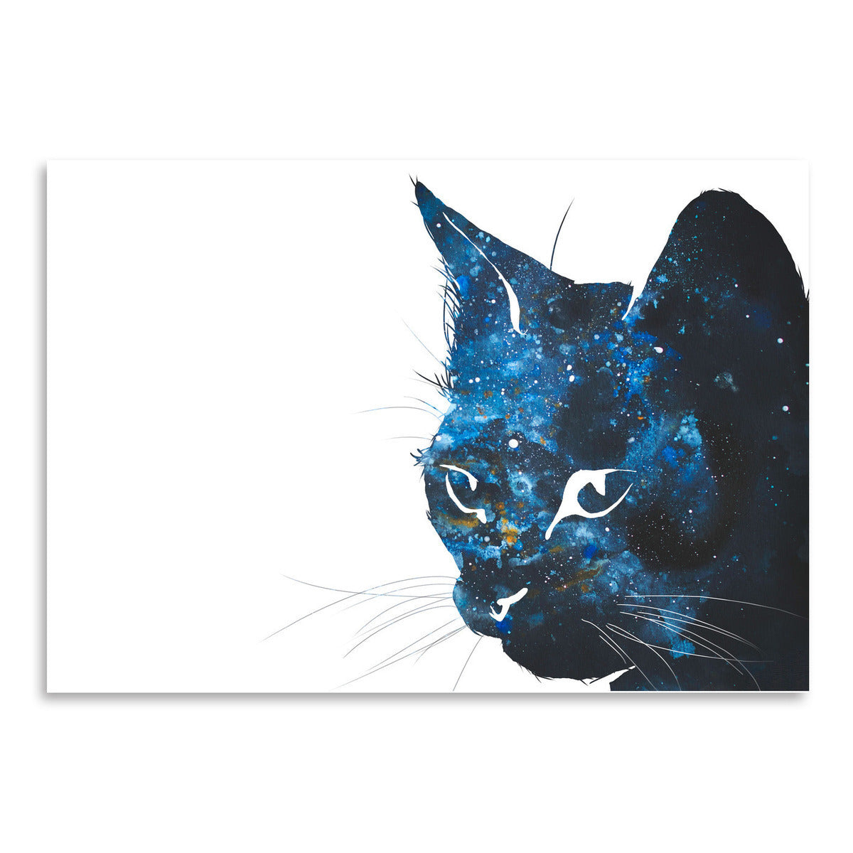 Cosmic Cat Silhouette by Allison Gray Art Print - Art Print - Americanflat