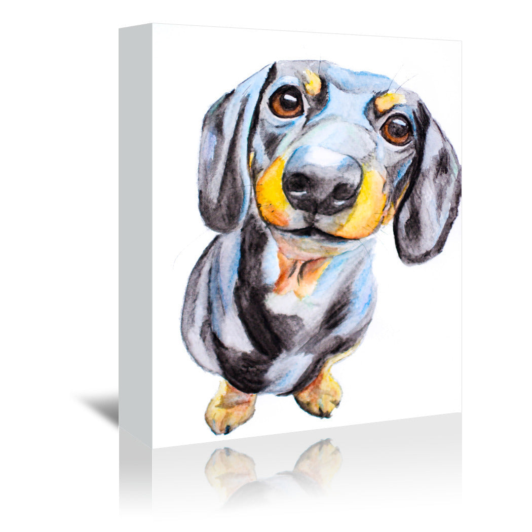 Dachshund by Allison Gray Wrapped Canvas - Wrapped Canvas - Americanflat