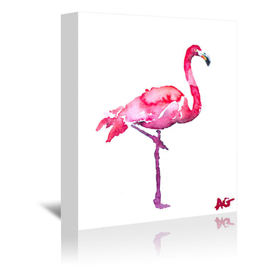 Flamingo by Allison Gray Wrapped Canvas - Wrapped Canvas - Americanflat