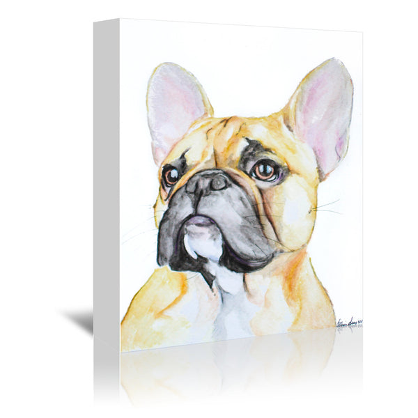 French Bulldog by Allison Gray Wrapped Canvas