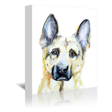 German Shepherd by Allison Gray Wrapped Canvas - Wrapped Canvas - Americanflat