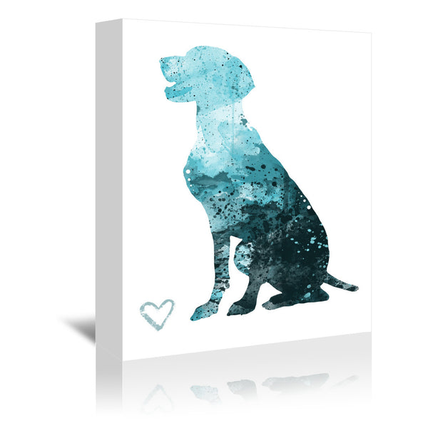 German Shorthair Pointer Silhouette by Allison Gray Wrapped Canvas