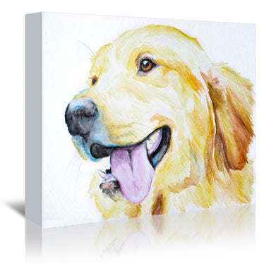 Golden Retriever by Allison Gray Wrapped Canvas - Wrapped Canvas - Americanflat