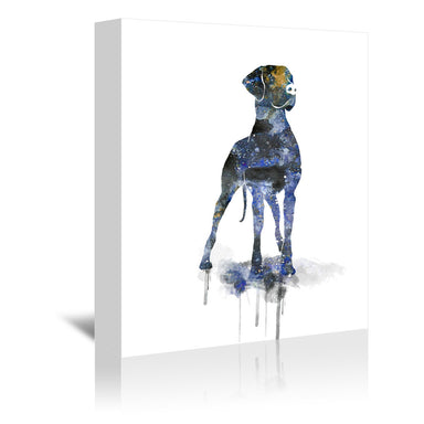 Great Dane Silhouette by Allison Gray Wrapped Canvas - Wrapped Canvas - Americanflat