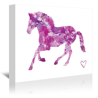 Horse Silhouette by Allison Gray Wrapped Canvas - Wrapped Canvas - Americanflat