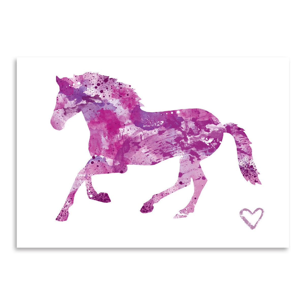 Horse Silhouette by Allison Gray Art Print - Art Print - Americanflat