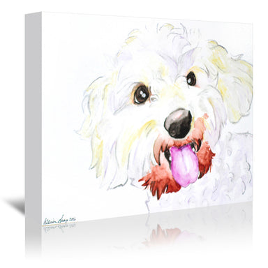 Miniature Poodle Mix by Allison Gray Wrapped Canvas - Wrapped Canvas - Americanflat