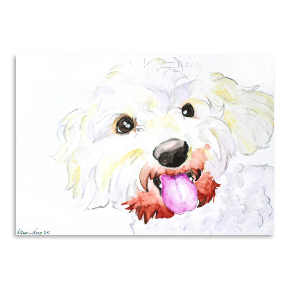 Miniature Poodle Mix by Allison Gray Art Print - Art Print - Americanflat