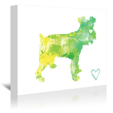 Miniature Schnauzer Silhouette by Allison Gray Wrapped Canvas - Wrapped Canvas - Americanflat