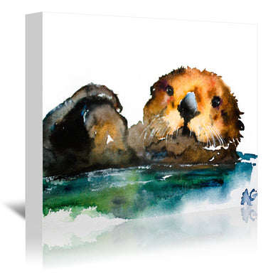 Otter by Allison Gray Wrapped Canvas - Wrapped Canvas - Americanflat