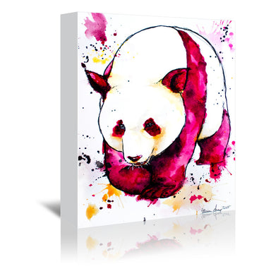 Panda Bear by Allison Gray Wrapped Canvas - Wrapped Canvas - Americanflat