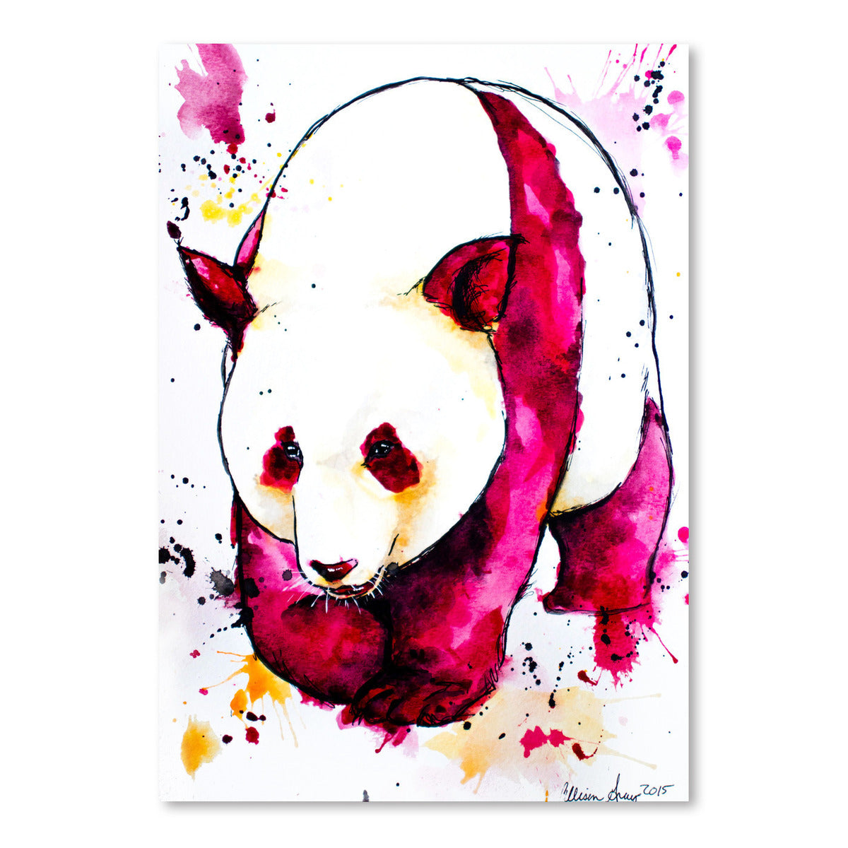 Panda Bear by Allison Gray Art Print - Art Print - Americanflat