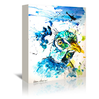 Peacock by Allison Gray Wrapped Canvas - Wrapped Canvas - Americanflat