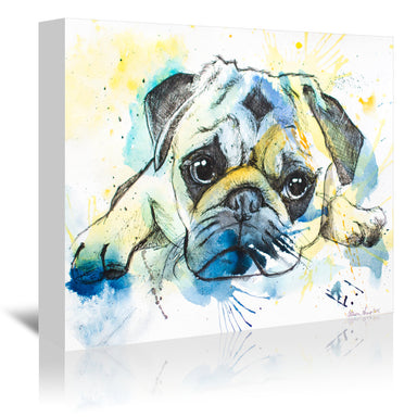 Pug by Allison Gray Wrapped Canvas - Wrapped Canvas - Americanflat