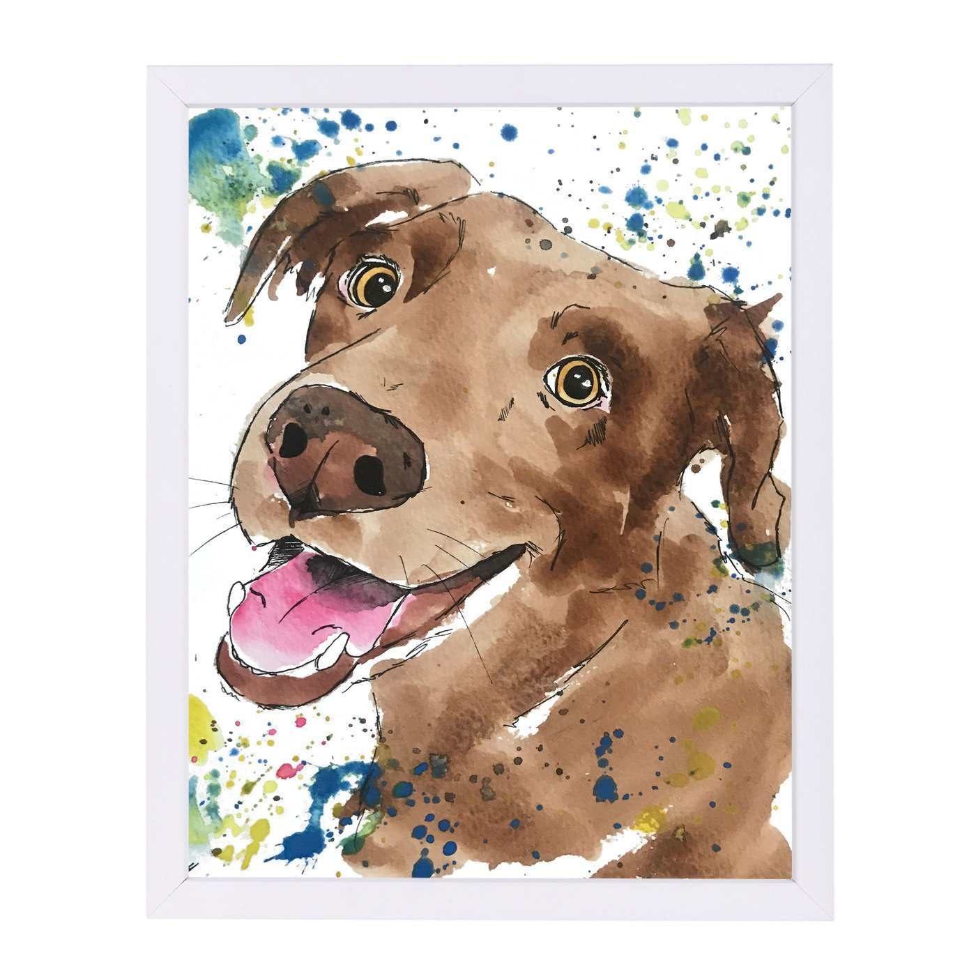 Chocolate Lab Pup by Allison Gray Framed Print - Americanflat