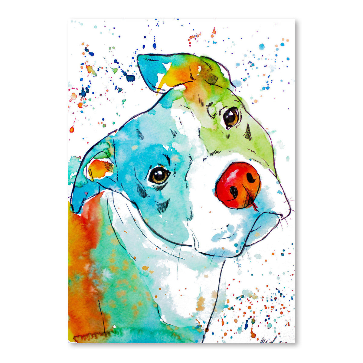 Color Pop Pup by Allison Gray Art Print - Art Print - Americanflat
