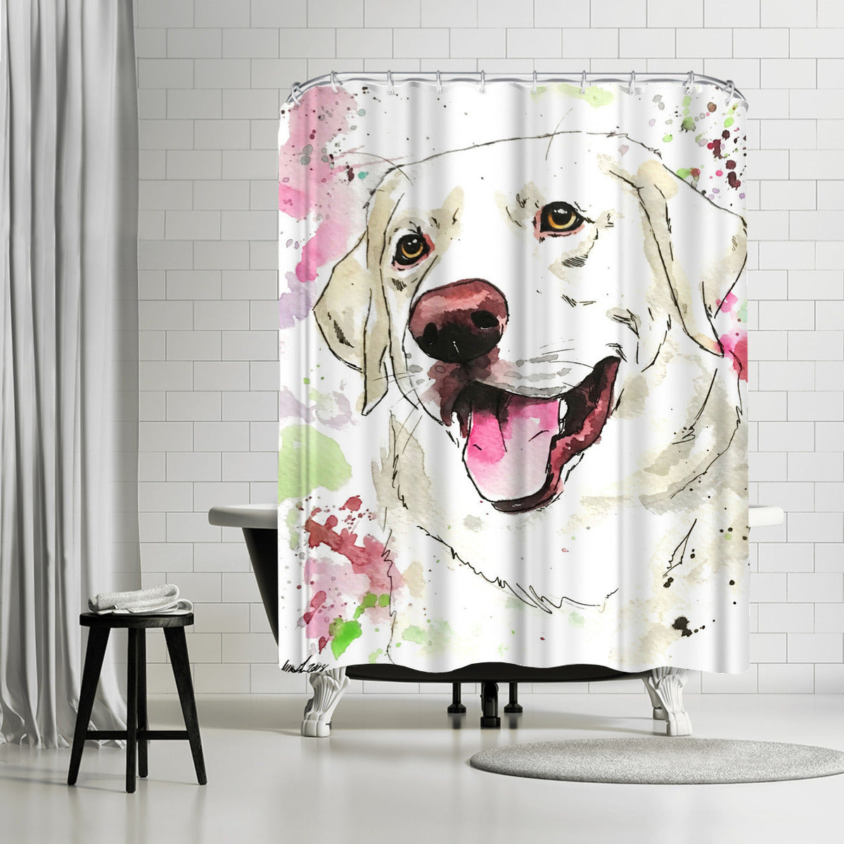 Dixie by Allison Gray Shower Curtain - Shower Curtain - Americanflat