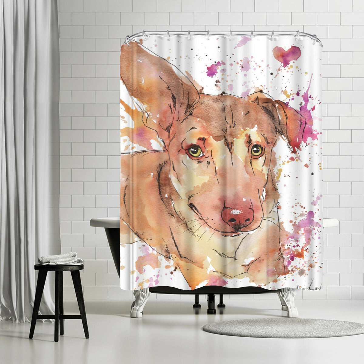 Karma by Allison Gray Shower Curtain