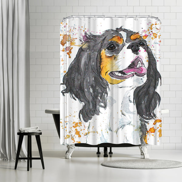 King Charles by Allison Gray Shower Curtain