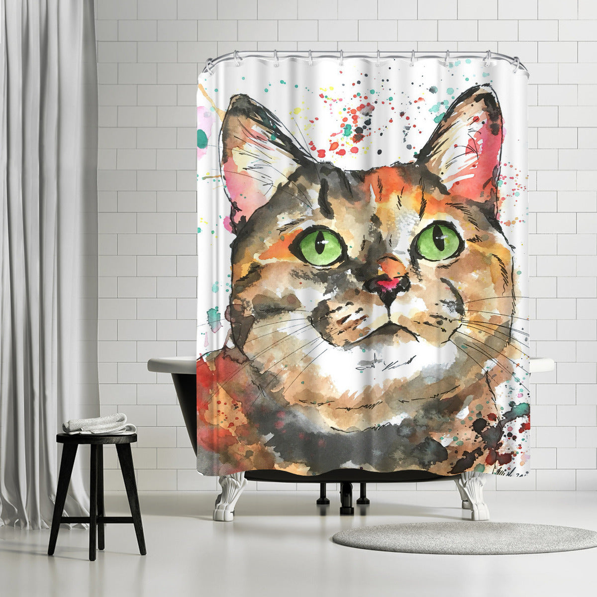 Mozzie by Allison Gray Shower Curtain - Shower Curtain - Americanflat