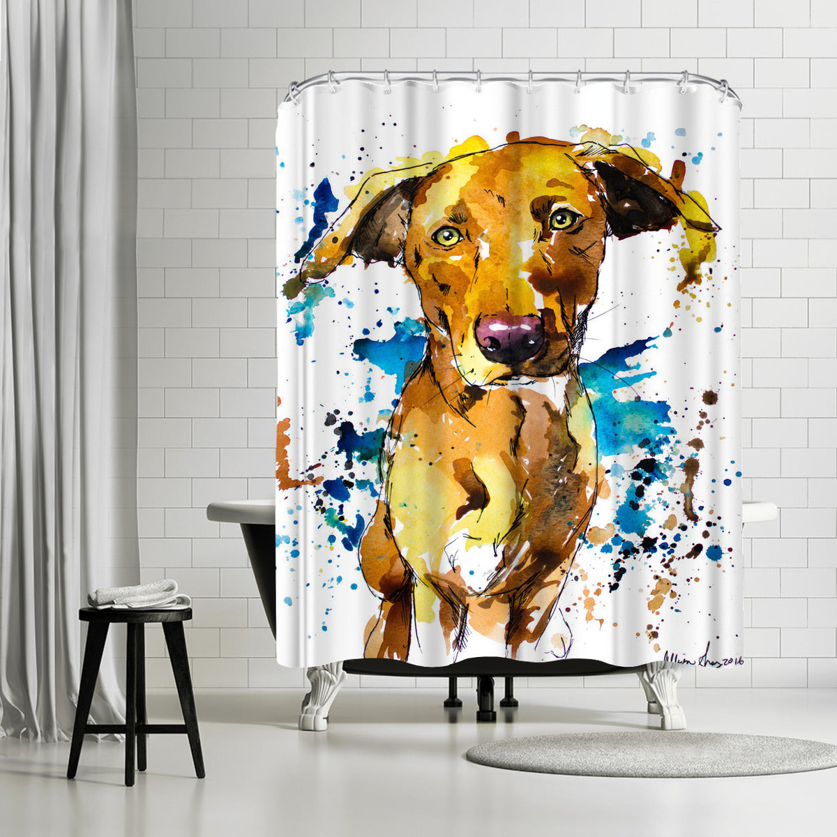 Oakley by Allison Gray Shower Curtain