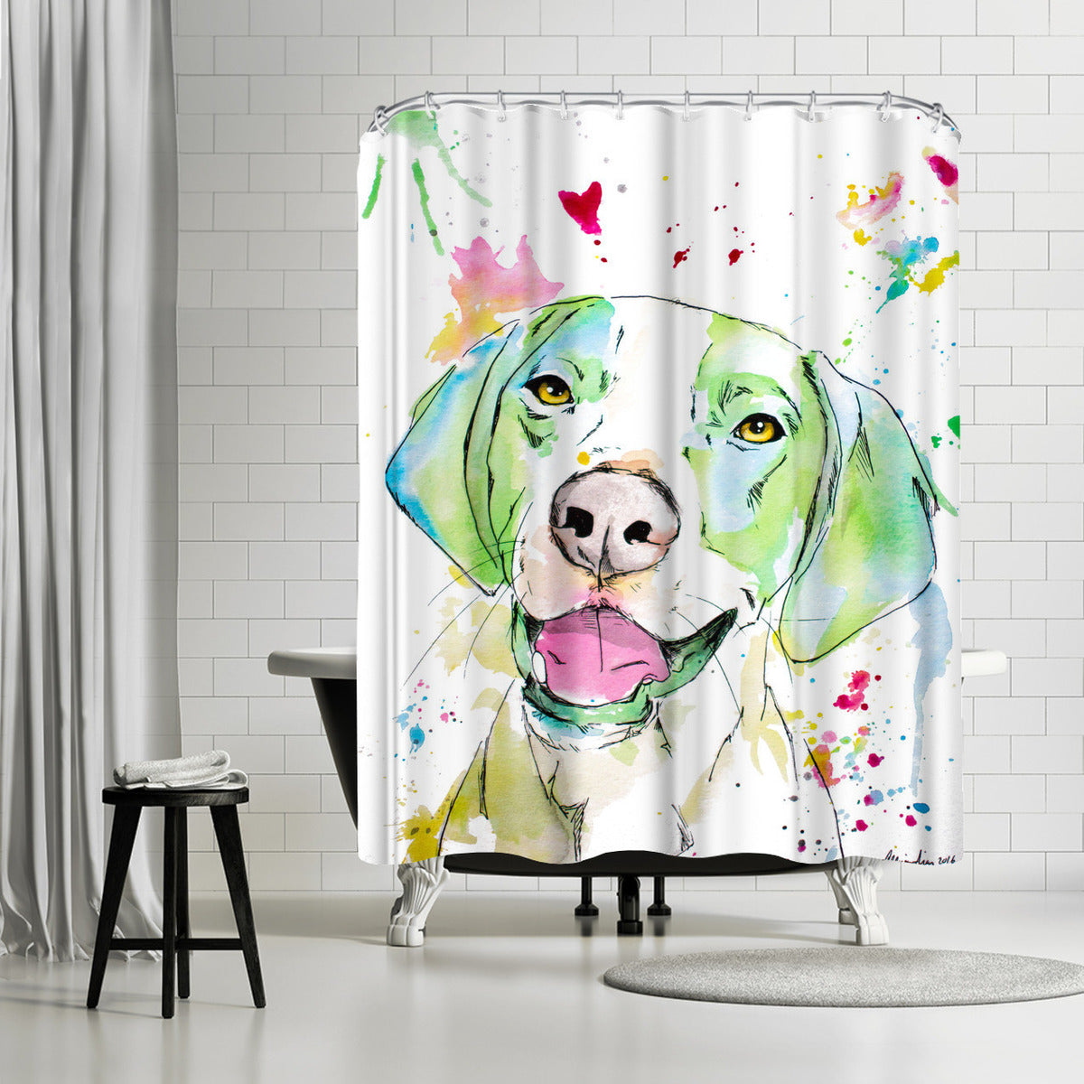Otto by Allison Gray Shower Curtain - Shower Curtain - Americanflat