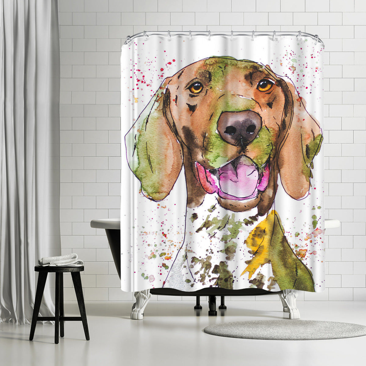 Pointer by Allison Gray Shower Curtain - Shower Curtain - Americanflat
