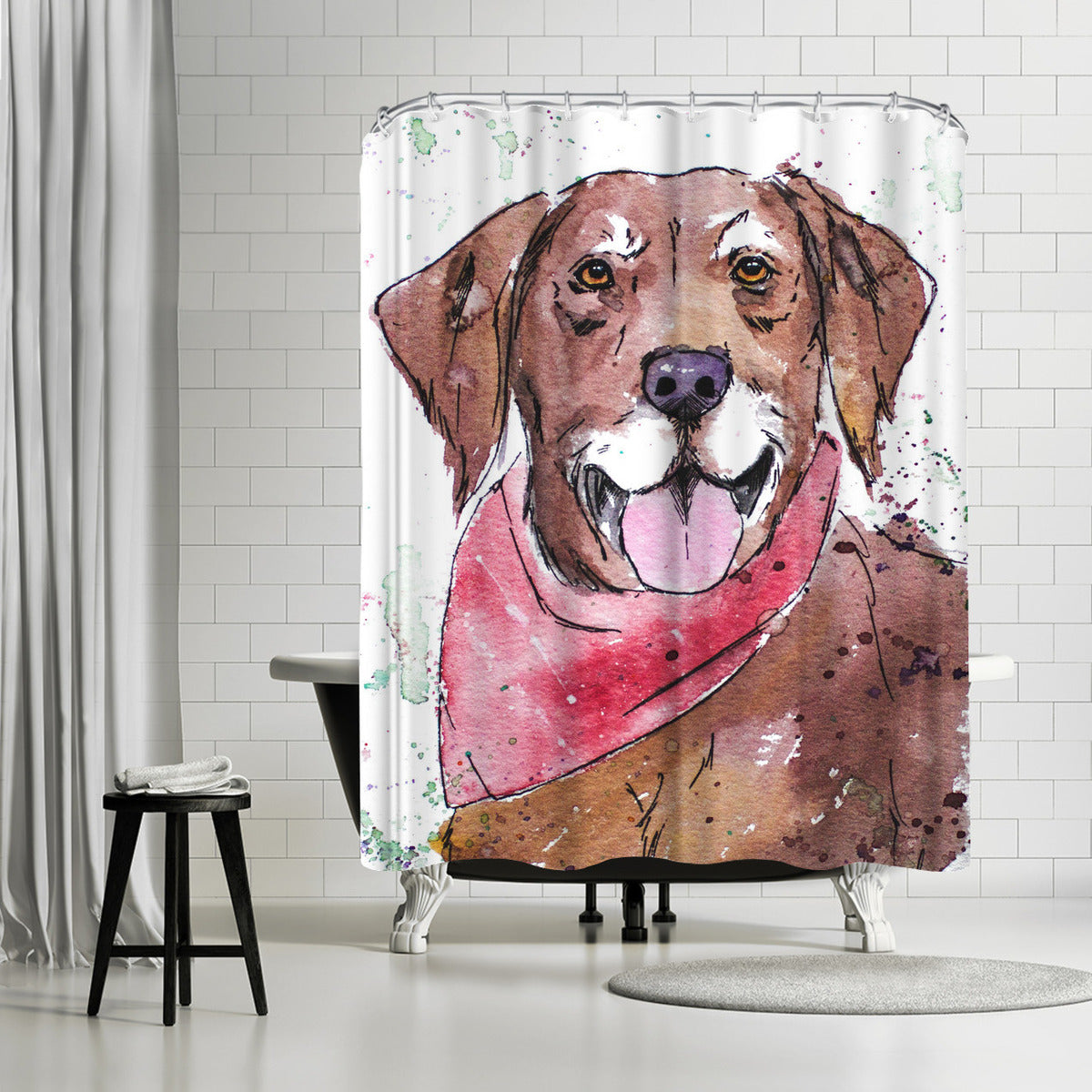 Rocco by Allison Gray Shower Curtain -  - Americanflat
