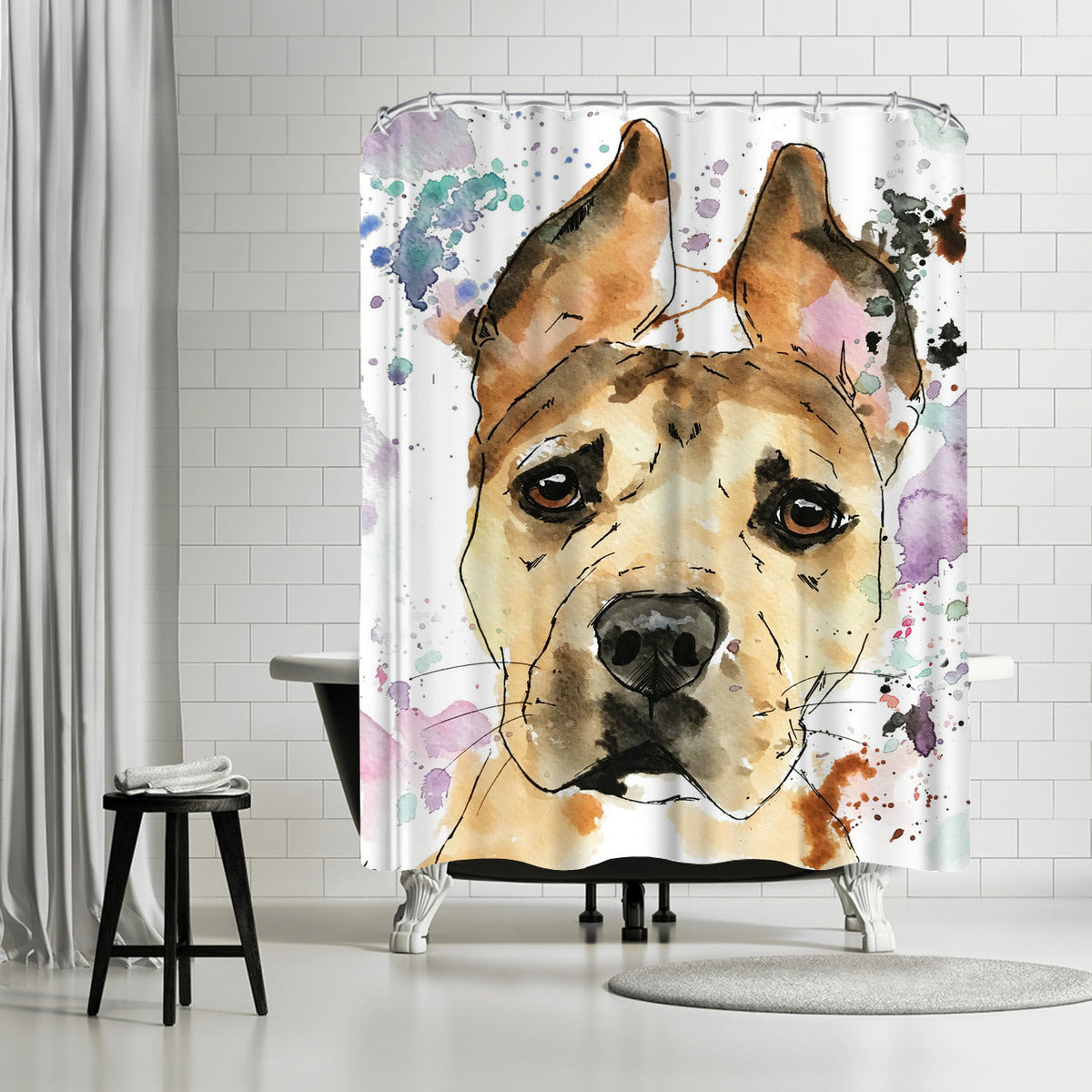 Sadie by Allison Gray Shower Curtain - Shower Curtain - Americanflat