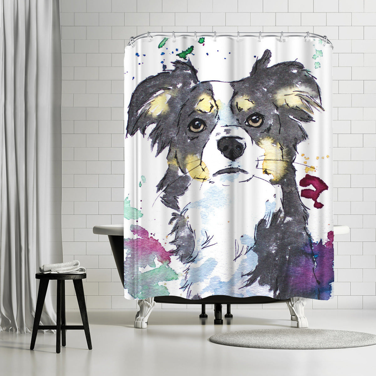 Sweet Puppy by Allison Gray Shower Curtain - Shower Curtain - Americanflat
