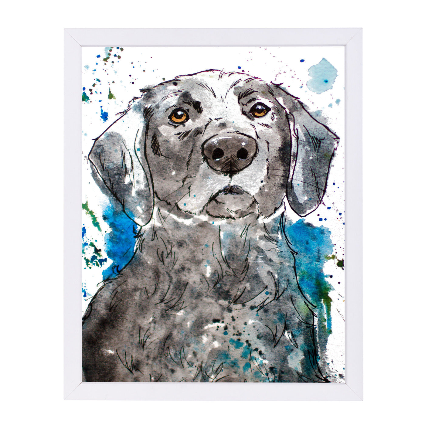 Water Loving Lab by Allison Gray Framed Print - Americanflat