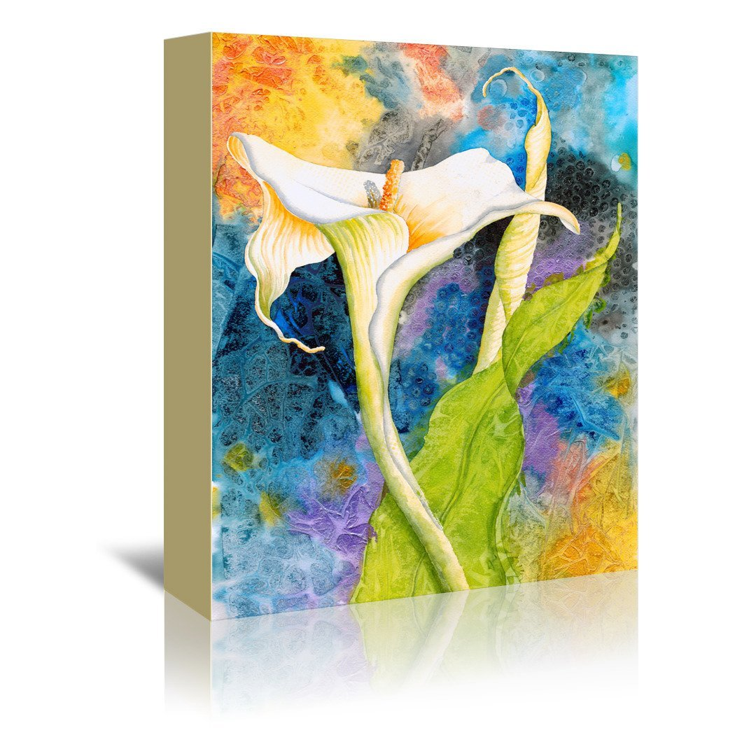 Calla Cosmos by Sunshine Taylor Wrapped Canvas - Wrapped Canvas - Americanflat