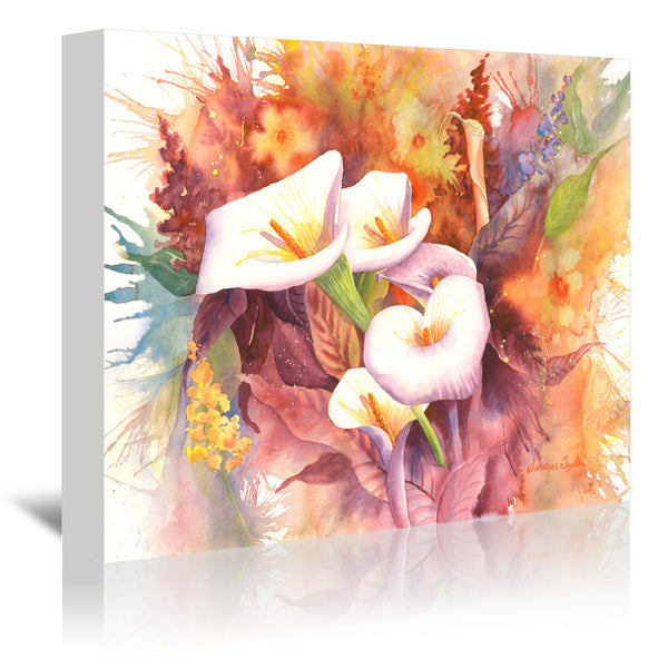 Calla Dance by Sunshine Taylor Wrapped Canvas