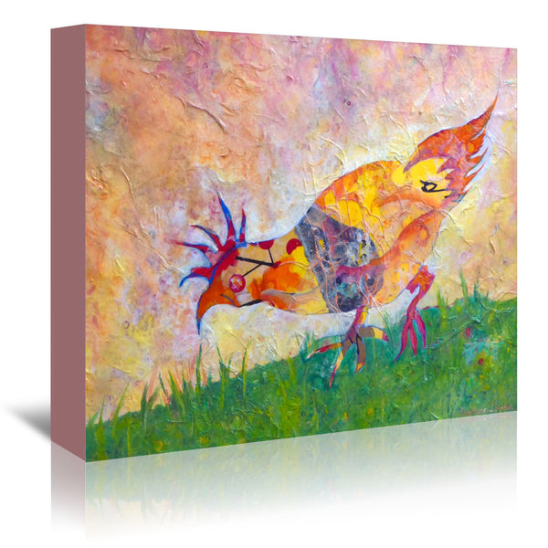 Chicken by Sunshine Taylor Wrapped Canvas