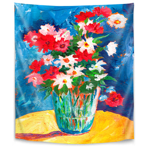 Large Flower Vase by Sunshine Taylor Tapestry