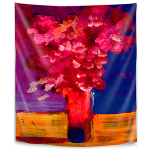 Red Flower Bunch by Sunshine Taylor Tapestry