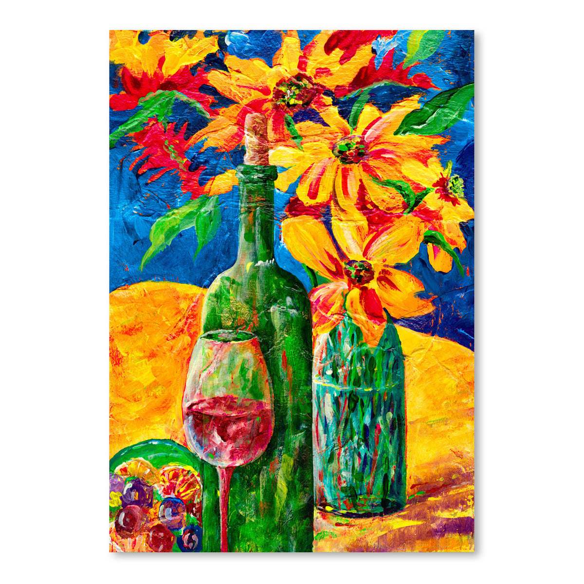 Wine And Flowers by Sunshine Taylor Art Print - Art Print - Americanflat