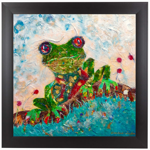 Frog by Sunshine Taylor Framed Print