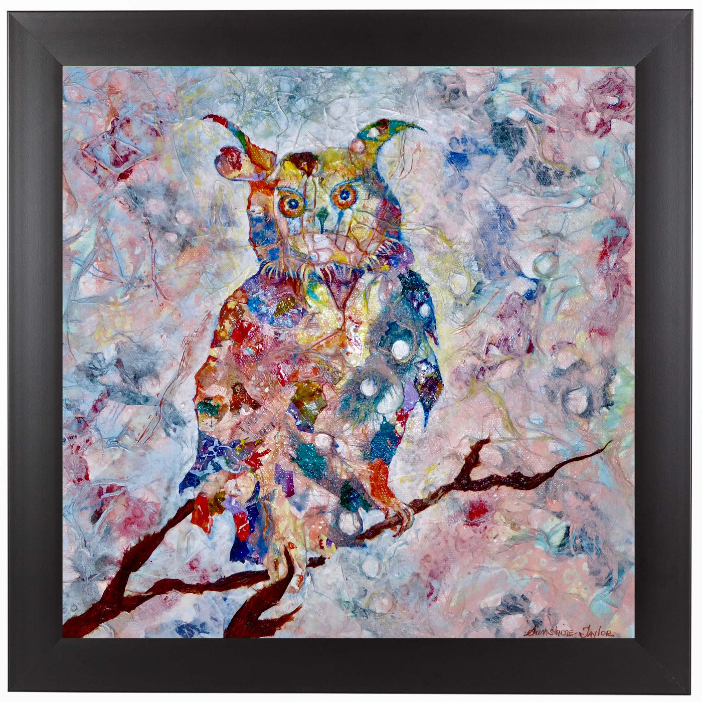 Horned Owl by Sunshine Taylor Framed Print