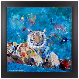 Tiger by Sunshine Taylor Framed Print