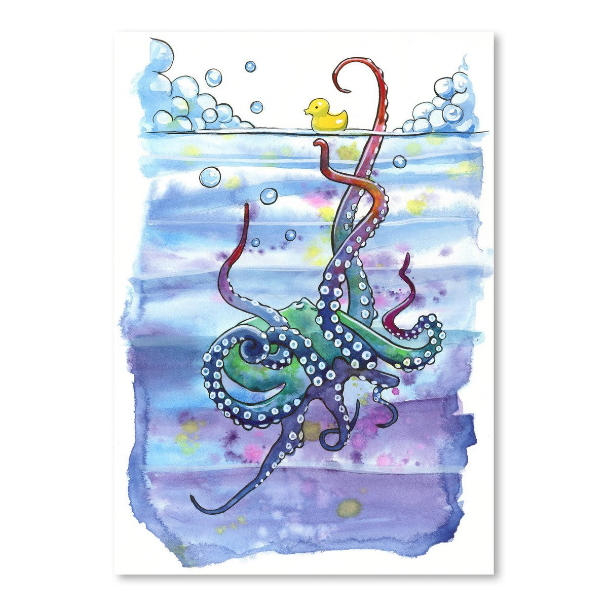 Bath Time Octopus by Sam Nagel Art Print - Art Print - Americanflat